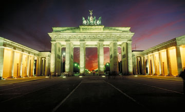 The Brandenburg Gate at Night in Berlin